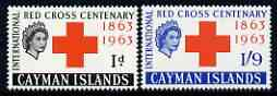 Cayman Islands 1963 Red Cross Centenary perf set of 2 unmounted mint, SG 181-82
