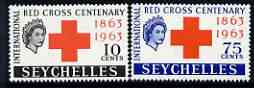 Seychelles 1963 Red Cross Centenary perf set of 2 unmounted mint, SG 214-15