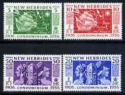 New Hebrides - English 1956 50th Anniversary of Condominion perf set of 4 unmounted mint, SG 80-83*