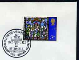 Postmark - Great Britain 1972 cover bearing illustrated cancellation for 30th Anniversary of Polish 3rd Carpathian Infantry Division