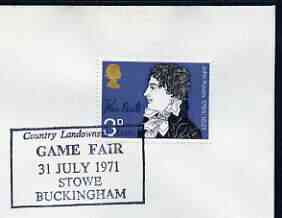 Postmark - Great Britain 1971 cover bearing special cancellation for Country Landowners Assn Game Fair