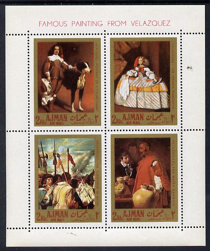 Ajman 1968 Paintings by Velazquez perf m/sheet unmounted mint (Mi BL 22A)