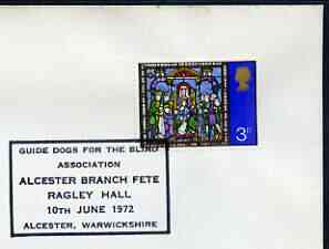 Postmark - Great Britain 1972 cover bearing special cancellation for Guide Dogs for the Blind, Alcester Branch Fete