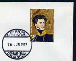 Postmark - Great Britain 1972 cover bearing illustrated cancellation for Stamford Arts Festival