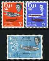 Fiji 1964 25th Anniversary of First Fiji-Tonga Airmail Service perf set of 3 unmounted mint, SG 338-40
