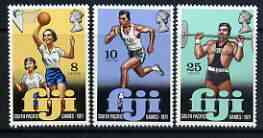 Fiji 1971 Fourth South Pacific Games perf set of 3 unmounted mint, SG 451-53