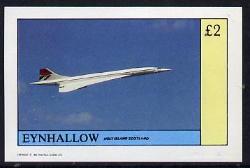 Eynhallow 1982 Concorde imperf deluxe sheet (\A32 value) unmounted mint