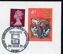 Postmark - Great Britain 1971 cover bearing illustrated cancellation for 10th Anniversary Derby Samaritans