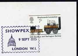 Postmark - Great Britain 1975 card bearing illustrated cancellation for Showpex '75