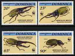 Dominica 1994 WWF - Insects the 4 (beetles) values from endangered Species set unmounted mint, SG 1799-1802*