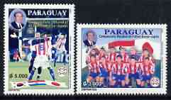Paraguay 2002 Football World Cup (Japan/Korea) perf set of 2 unmounted mint (only 15,000 produced)
