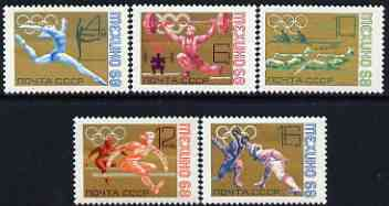 Russia 1968 Mexico Olympic Games perf set of 5 unmounted mint, SG 3580-84