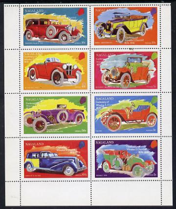 Nagaland 1974 Vintage Cars (Churchill Birth Centenary) perf set of 8 values (2c to 60c) unmounted mint