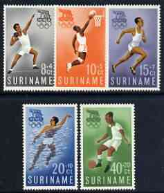 Surinam 1960 Rome Olympic Games perf set of 5 unmounted mint, SG 471-75