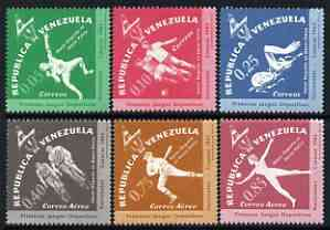 Venezuela 1962 First National Games perf set of 6 diamond shaped unmounted mint, SG 1740-46