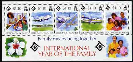 Solomon Islands 1994 International Year of the Family perf m/sheet unmounted mint, SG MS 811
