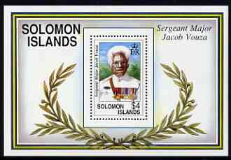 Solomon Islands 1992 Birth Centenary of Sgt-major Jacob Vouza (war hero) perf m/sheet unmounted mint, SG MS 727