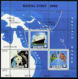 Solomon Islands 1982 Royal Visit perf m/sheet #1 unmounted mint, SG MS 475