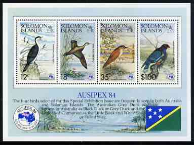 Solomon Islands 1984 Ausipex Stamp Exhibition (Birds) perf m/sheet unmounted mint, SG MS 537