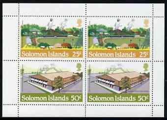 Booklet - Solomon Islands 1984 Los Angeles Olympic Games booklet panes containing 25c & 50c ea x 2, unmounted mint, SG 529a