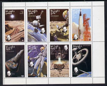 Oman 1973 Churchill Birth Centenary (Space) perf set of 8 values (1b to 25b) unmounted mint