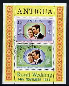 Antigua 1973 Royal Wedding m/sheet fine cds used, SG MS 372