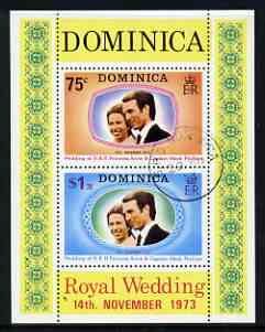 Dominica 1973 Royal Wedding m/sheet fine cds used, SG MS 396