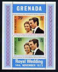 Grenada 1973 Royal Wedding m/sheet fine cds used, SG MS 584