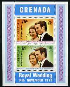 Grenada - Grenadines 1973 Royal Wedding m/sheet fine cds used, SG MS 3
