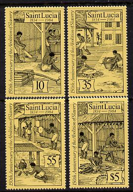 St Lucia 1984 Abolition of Slavery set of 4 (SG 740-3) unmounted mint, stamps on slavery