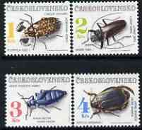 Czechoslovakia 1992 Beetles perf set of 4 unmounted mint, SG 3097-3100