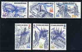 Czechoslovakia 1976 Air 'Praga 78' Stamp Exhibition (!st issue - Architecture) perf set of 6 unmounted mint, SG 2286-91