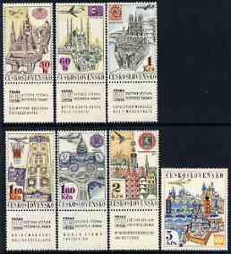 Czechoslovakia 1967 Air 'Praga 68' Stamp Exhibition (1st Issue) set of 7 unmounted mint, SG 1689-95