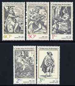 Czechoslovakia 1982 Engravings with a Music Theme perf set of 5 unmounted mint, SG 2622-26