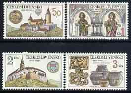 Czechoslovakia 1982 Castles perf set of 4 unmounted mint, SG 2632-35