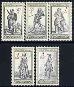 Czechoslovakia 1983 Period Costumes from Old Engravings perf set of 5 unmounted mint, SG 2707-11