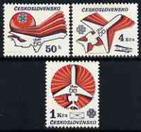 Czechoslovakia 1983 World Communications Year & Czech Airlines Anniversary perf set of 3 unmounted mint, SG 2692-94