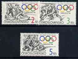 Czechoslovakia 1984 Winter Olympic Games, Sarajevo perf set of 3 unmounted mint, SG 2715-17