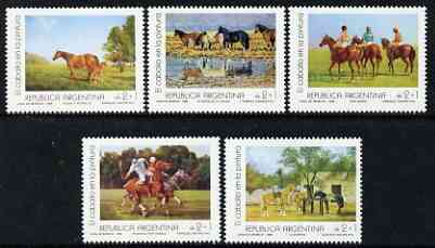 Argentine Republic 1988 Horse Paitings set of 5 unmounted mint, SG 2128-32