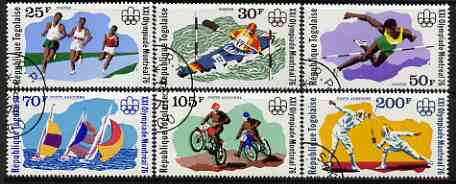 Togo 1976 Montreal Olympic Games perf set of 6 fine cds used, SG 1144-49
