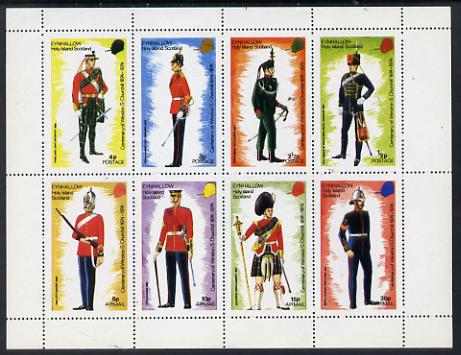 Eynhallow 1974 Churchill Birth Centenary (Military Uniforms) perf set of 8 values (0.5p to 30p) unmounted mint