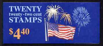 Booklet - United States 1987 Flag & Fireworks $4.40 booklet complete and pristine, SG SB 127