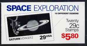 Booklet - United States 1991 Space Exploration $5.80 booklet complete and pristine, SG SB 159