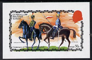 Eynhallow 1974 Churchill Birth Centenary (Military Uniforms) imperf souvenir sheet (50p value) unmounted mint