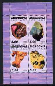 Mordovia Republic 1999 Minerals #1 perf sheetlet containing set of 4 values unmounted mint