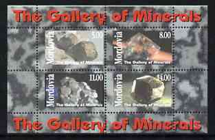 Mordovia Republic 1999 The Gallery of Minerals perf sheetlet containing set of 4 values unmounted mint