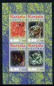 Karjala Republic 1999 Minerals #1 perf sheetlet containing set of 4 values unmounted mint