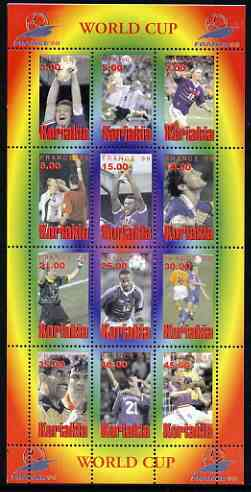 Koriakia Republic 1998 Football World Cup perf sheetlet containing complete set of 12 values unmounted mint