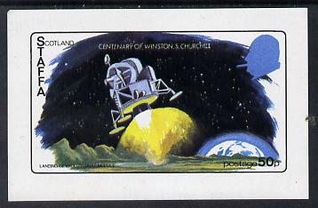 Staffa 1974 Churchill Birth Centenary (Space) imperf souvenir sheet (50p value) unmounted mint