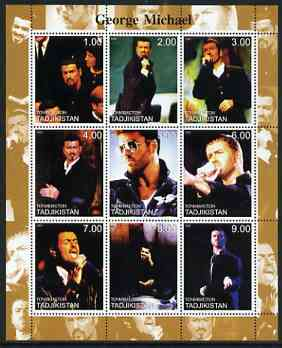 Tadjikistan 2000 George Michael perf sheetlet containing 9 values unmounted mint